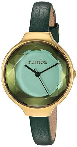 ルンバタイム 腕時計 レディース 【送料無料】RumbaTime Women's Orchard Gem Leather Stainless Steel Japanese-Quartz Strap, Green, 2.3 Casual Watch (Model: 27563)ルンバタイム 腕時計 レディース