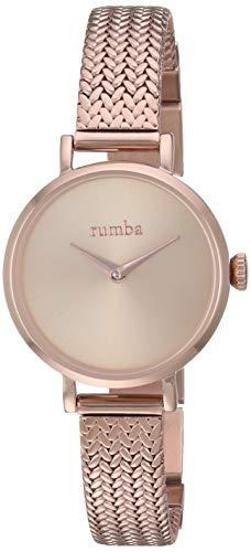 ルンバタイム 腕時計 レディース 【送料無料】RumbaTime Women's Hudson Weave Japanese-Quartz Stainless-Steel Strap, Rose Gold, 10 Casual Watch (Model: 28331)ルンバタイム 腕時計 レディース