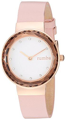 ルンバタイム 腕時計 レディース 【送料無料】RumbaTime Women's Santa Monica Stainless Steel Japanese-Quartz Leather Strap, Pink, 13.86 Casual Watch (Model: 26948)ルンバタイム 腕時計 レディース