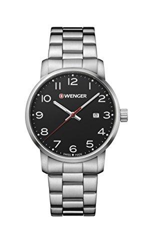 ウェンガー スイス メンズ 腕時計 【送料無料】Wenger Men's Sport Swiss-Quartz Watch with Stainless-Steel Strap, Silver, 22 (Model: 01.1641.102)ウェンガー スイス メンズ 腕時計