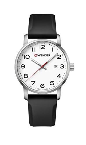 ウェンガー スイス メンズ 腕時計 【送料無料】Wenger Men's Sport Stainless Steel Swiss-Quartz Watch with Silicone Strap, Black, 22 (Model: 01.1641.103)ウェンガー スイス メンズ 腕時計