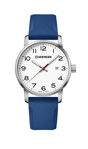 ウェンガー スイス メンズ 腕時計 【送料無料】Wenger Men's Sport Stainless Steel Swiss-Quartz Watch with Silicone Strap, Blue, 22 (Model: 01.1641.107)ウェンガー スイス メンズ 腕時計