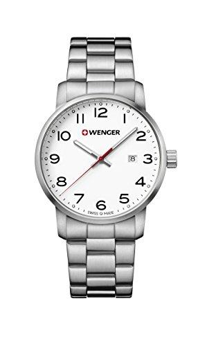 ウェンガー スイス メンズ 腕時計 【送料無料】Wenger Men's Sport Swiss-Quartz Watch with Stainless-Steel Strap, Silver, 22 (Model: 01.1641.104)ウェンガー スイス メンズ 腕時計
