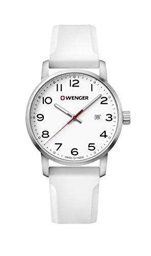 ウェンガー スイス メンズ 腕時計 【送料無料】Wenger Men's Sport Stainless Steel Swiss-Quartz Watch with Silicone Strap, White, 22 (Model: 01.1641.106)ウェンガー スイス メンズ 腕時計