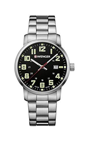 ウェンガー スイス メンズ 腕時計 【送料無料】Wenger Men's Sport Swiss-Quartz Watch with Stainless-Steel Strap, Silver, 22 (Model: 01.1641.111)ウェンガー スイス メンズ 腕時計