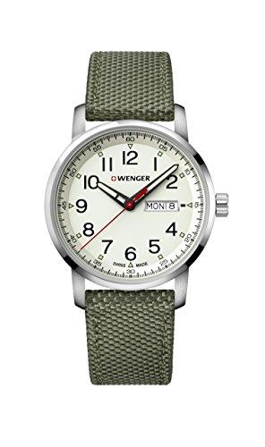 ウェンガー スイス メンズ 腕時計 Wenger Men's Sport Stainless Steel Swiss-Quartz Watch with Nylon Strap, Green, 22 (Model: 01.1541.110)ウェンガー スイス メンズ 腕時計