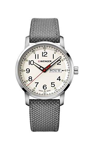 """ウェンガー スイス メンズ 腕時計 【送料無料】Wenger Men""""s Sport Stainless Steel Swiss-Quartz Watch with Nylon Strap, Grey, 22 (Model: 01.1541.106)ウェンガー スイス メンズ 腕時計"""