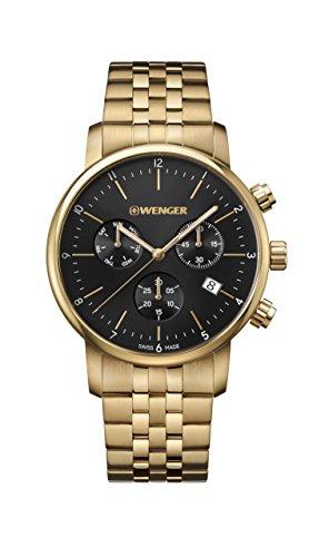 ウェンガー スイス メンズ 腕時計 【送料無料】Wenger Men's Classic Swiss-Quartz Watch with Gold-Tone-Stainless-Steel Strap, 22 (Model: 01.1743.103)ウェンガー スイス メンズ 腕時計