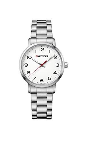 ウェンガー スイス 腕時計 レディース 【送料無料】Wenger Women's Sport Swiss-Quartz Watch with Stainless-Steel Strap, Silver, 17 (Model: 01.1621.104)ウェンガー スイス 腕時計 レディース