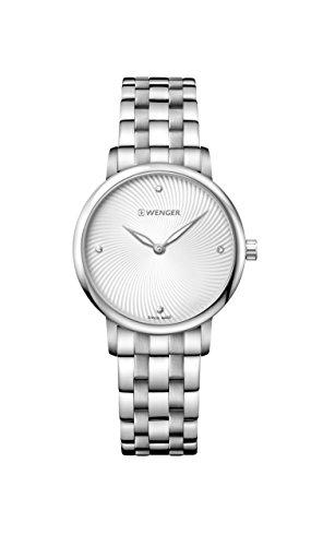 ウェンガー スイス 腕時計 レディース 【送料無料】Wenger Women's Classic Swiss-Quartz Watch with Stainless-Steel Strap, Silver, 17 (Model: 01.1721.109)ウェンガー スイス 腕時計 レディース