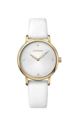 ウェンガー スイス 腕時計 レディース 【送料無料】Wenger Women's Classic Swiss-Quartz Watch with Satin Strap, White, 17 (Model: 01.1721.101)ウェンガー スイス 腕時計 レディース