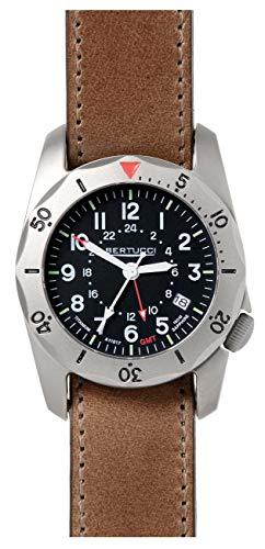 ベルトゥッチ 逆輸入 海外モデル 海外限定 アメリカ直輸入 【送料無料】Bertucci 12120 A-2TR Vintage GMT Men's Watch Brown 40mm Titanium Caseベルトゥッチ 逆輸入 海外モデル 海外限定 アメリカ直輸入