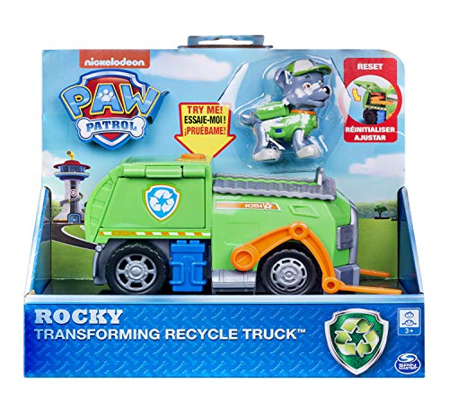 パウパトロール アメリカ直輸入 英語 バイリンガル育児 おもちゃ Paw Patrol, Rocky's Transforming Recycle Truck with Pop-Out Tools & Moving Forklift, for Ages 3 & Upパウパトロール アメリカ直輸入 英語 バイリンガル育児 おもちゃ