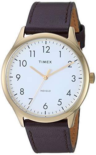 タイメックス 腕時計 メンズ 【送料無料】Timex Men's TW2T71600 Modern Easy Reader 40mm Brown/Gold/White Genuine Leather Strap Watchタイメックス 腕時計 メンズ