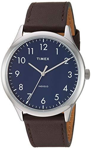 タイメックス 腕時計 メンズ 【送料無料】Timex Men's TW2T72000 Modern Easy Reader 40mm Brown/Silver/Blue Genuine Leather Strap Watchタイメックス 腕時計 メンズ