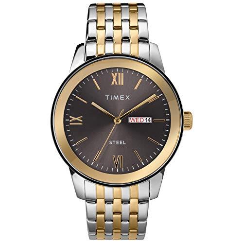 腕時計 タイメックス メンズ 【送料無料】Timex Men's Dress Analog 41mm Stainless Steel Bracelet Watch, Two-Tone腕時計 タイメックス メンズ