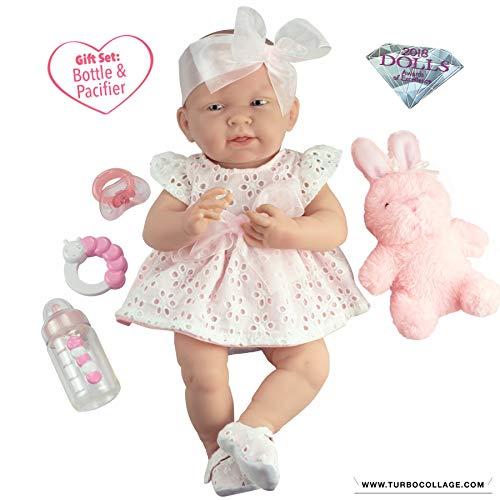 ジェーシートイズ 赤ちゃん おままごと ベビー人形 【送料無料】JC Toys La Newborn All-Vinyl-Anatomically Correct Real Girl 15