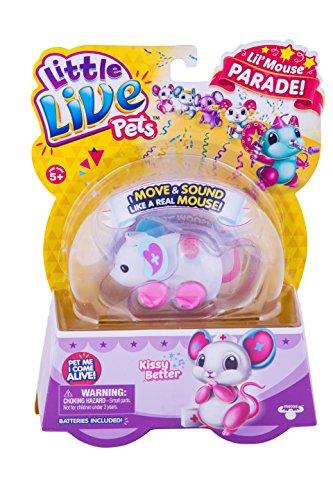 リトルライブペッツ ぬいぐるみ リアル 動く 鳴く Little Live Pets Lil' Mouse - Kissy Betterリトルライブペッツ ぬいぐるみ リアル 動く 鳴く