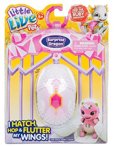 リトルライブペッツ ぬいぐるみ リアル 動く 鳴く Little Live Pets S1 Dragon Single Pack Childrens Toy, Purple/Pinkリトルライブペッツ ぬいぐるみ リアル 動く 鳴く