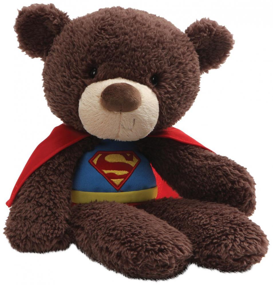 ガンド ぬいぐるみ リアル お世話 かわいい 【送料無料】GUND DC Comics Universe Fuzzy Bear Superman Plush, 14