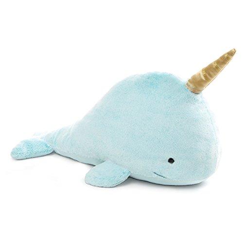 ガンド ぬいぐるみ リアル お世話 かわいい 【送料無料】GUND Nori Narwhal Stuffed Animal Plush, Blue, 18