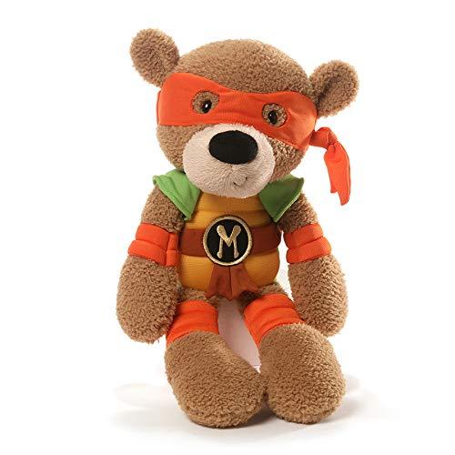 ガンド ぬいぐるみ リアル お世話 かわいい 【送料無料】GUND Teenage Mutant Ninja Turtles Michelangelo Fuzzy Bear Stuffed Animal Plush, 13.5