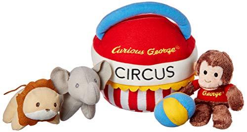 ガンド ぬいぐるみ リアル お世話 かわいい 【送料無料】GUND Curious George Banana Sensory Skills Stuffed Animal Plush Playset (4 Piece)ガンド ぬいぐるみ リアル お世話 かわいい