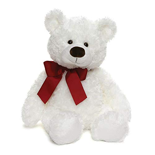 ガンド ぬいぐるみ リアル お世話 かわいい 【送料無料】GUND Valentine's Day Hart Teddy Bear with Red Bow Stuffed Animal Plush, White, 18