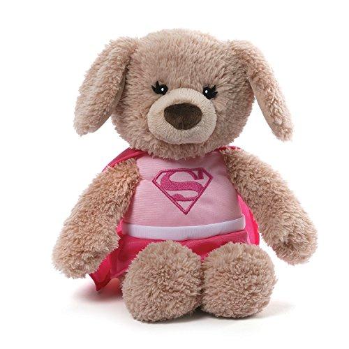 ガンド ぬいぐるみ リアル お世話 かわいい GUND DC Comics Supergirl Yvette Dog Stuffed Animal Plush, Pink, 12