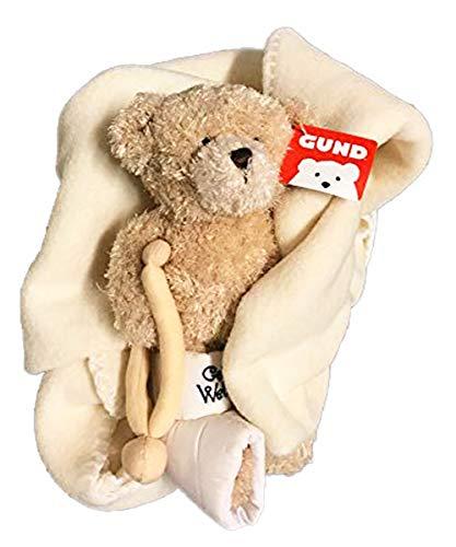 ガンド ぬいぐるみ リアル お世話 かわいい GUND Break a Leg Jr., Broken Leg Bear Get Well Soon Teddy Bear with a Cast (Break a Leg with Blanket)ガンド ぬいぐるみ リアル お世話 かわいい