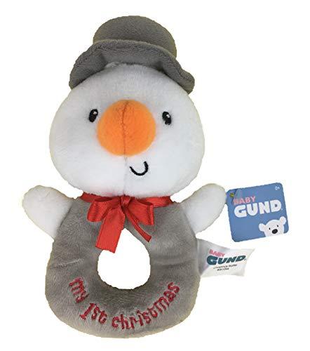 ガンド ぬいぐるみ リアル お世話 かわいい GUND Baby Gifts - Soft Plush Baby Toys - First Christmas Snowman Rattleガンド ぬいぐるみ リアル お世話 かわいい