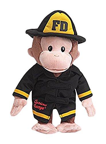 ガンド ぬいぐるみ リアル お世話 かわいい 【送料無料】Gund Curious George Fireman Stuffed Animalガンド ぬいぐるみ リアル お世話 かわいい
