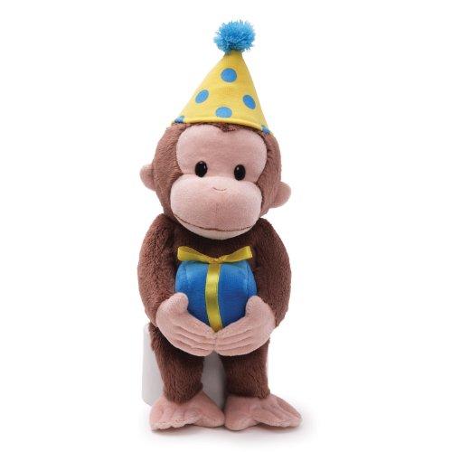 ガンド ぬいぐるみ リアル お世話 かわいい 【送料無料】GUND Curious George Birthday Monkey Stuffed Animal Plush, 14