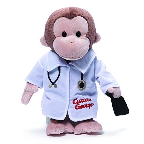 ガンド ぬいぐるみ リアル お世話 かわいい 【送料無料】GUND Curious George Doctor Monkey Stuffed Animal Plush, 13