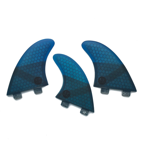 サーフィン フィン マリンスポーツ 【送料無料】UPSURF Fibreglass Surfboard Fins G5 Size Thruster FCS Style (3 Fins) by Choose Color (Blue K2.1)サーフィン フィン マリンスポーツ