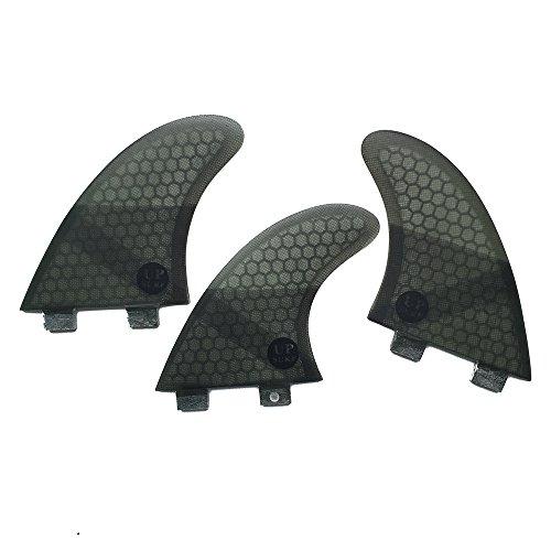 サーフィン フィン マリンスポーツ 【送料無料】UPSURF Fibreglass Surfboard Fins G5 Size Thruster FCS Style (3 Fins) by Choose Color (Grey K2.1)サーフィン フィン マリンスポーツ