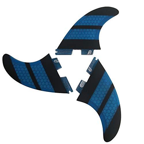 サーフィン フィン マリンスポーツ 【送料無料】UPSURF Surfboard Tri Fin FCS II M Size Fiberglass+Honeycomb Thruster Set (Blue G3)サーフィン フィン マリンスポーツ