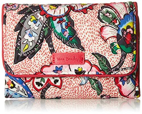 ヴェラブラッドリー ベラブラッドリー アメリカ 日本未発売 財布 【送料無料】Vera Bradley womens Iconic RFID Riley Compact Wallet, Signature Cotton, Stitched Flowers, One Sizeヴェラブラッドリー ベラブラッドリー アメリカ 日本未発売 財布