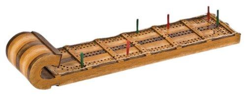 ボードゲーム 英語 アメリカ 海外ゲーム 【送料無料】Outside Inside - Hand Painted Toboggan Cribbage Boardボードゲーム 英語 アメリカ 海外ゲーム
