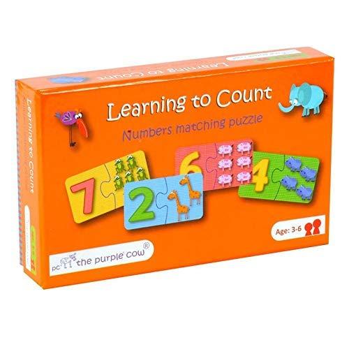 ボードゲーム 英語 アメリカ 海外ゲーム The Purple Cow Learning to Count - A Numbers Matching Puzzle. Learning Made Fun. Ages 3 to 6. Count and Enjoy with Gameボードゲーム 英語 アメリカ 海外ゲーム