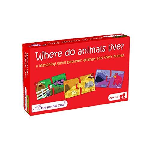 ボードゲーム 英語 アメリカ 海外ゲーム Everest Toys Where do The Animals Live? Puzzleボードゲーム 英語 アメリカ 海外ゲーム