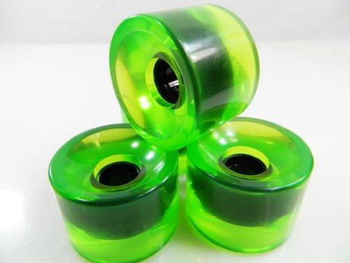 ウィール タイヤ スケボー スケートボード 海外モデル 76mm Blank Longboard Skateboard Cruiser Wheels (Gel Green)ウィール タイヤ スケボー スケートボード 海外モデル