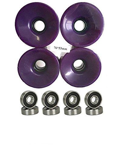 ウィール タイヤ スケボー スケートボード 海外モデル 76mm Wheels w/ Turbo Bearings (Purple)ウィール タイヤ スケボー スケートボード 海外モデル
