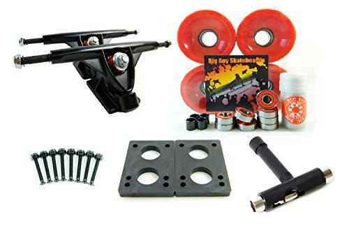 ウィール タイヤ スケボー スケートボード 海外モデル 180mm Trucks + 70mm Wheels + T-Tool Combo (Solid Red)ウィール タイヤ スケボー スケートボード 海外モデル