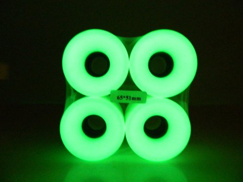 ウィール タイヤ スケボー スケートボード 海外モデル 65mm Pro Longboard Skateboard Wheels Solid Gel Color (Glow In Dark)ウィール タイヤ スケボー スケートボード 海外モデル