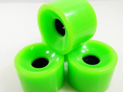 ウィール タイヤ スケボー スケートボード 海外モデル 【送料無料】65mm Pro Longboard Skateboard Wheels Solid Gel Color (Solid Green)ウィール タイヤ スケボー スケートボード 海外モデル