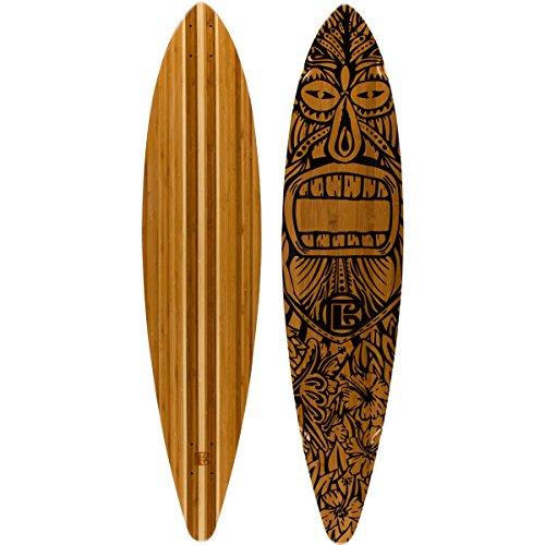 デッキ スケボー スケートボード 海外モデル 直輸入 1-02-008-06-00 Bamboo Skateboards ? Pintail Longboard Tiki Man 44