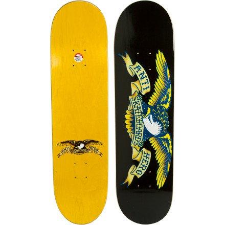 デッキ スケボー スケートボード 海外モデル 直輸入 Anti-Hero Classic Eagle Large Skateboard Deck 8.12 - Black/Yellowデッキ スケボー スケートボード 海外モデル 直輸入