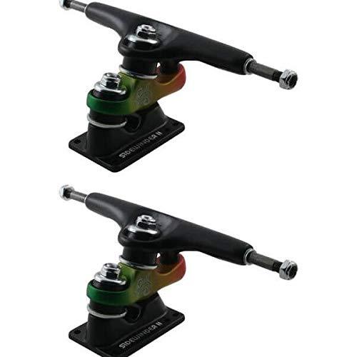 トラック スケボー スケートボード 海外モデル 直輸入 Gullwing Trucks Sidewinder II Black / Rasta Skateboard Trucks - 159mm Hanger 9