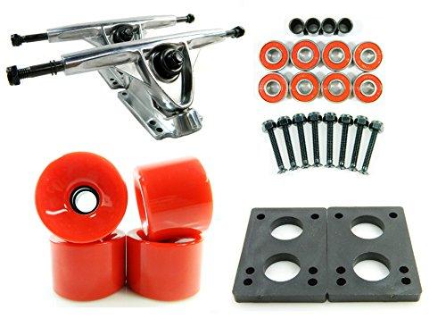 トラック スケボー スケートボード 海外モデル 直輸入 180mm Polished Trucks 70mm Wheels Combo (Solid Red)トラック スケボー スケートボード 海外モデル 直輸入